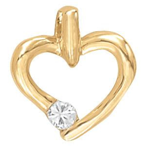1/8 ct tw Diamond Heart Pendant with F Color VS Clarity Diamonds