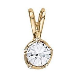 1/3 ct tw GIA Certified Diamond Solitaire Pendant with F Color VS Clarity Diamond