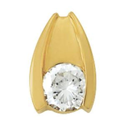 3/8 ct tw GIA Certified Diamond Solitaire Pendant with F Color VS Clarity Diamond