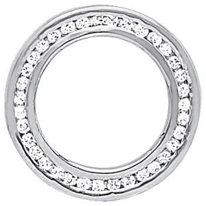 1/3 ct tw Diamond Circle Pendant with F Color VS Clarity Diamonds