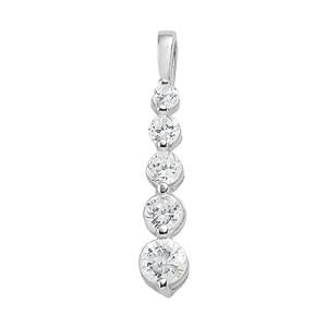 1/2 ct tw Diamond Journey Pendant with F Color VS Clarity Diamonds