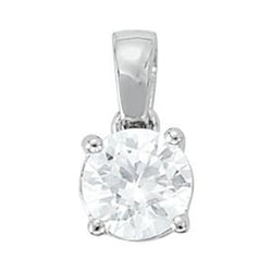 1 ct tw GIA Certified Diamond Solitaire Pendant with F Color VS Clarity Diamond