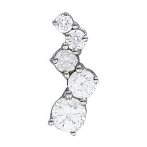 1 ct tw Diamond Journey Pendant with F Color VS Clarity Diamonds