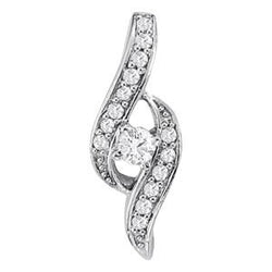 1/4 ct tw GIA Certified Diamond Solitaire Pendant with F Color VS Clarity Diamond
