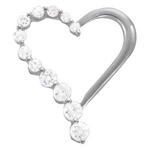 1/2 ct tw Diamond Heart Pendant with F Color VS Clarity Diamonds