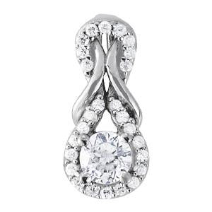 3/4 ct tw Diamond Love Knot Pendant with F Color VS Clarity Diamonds