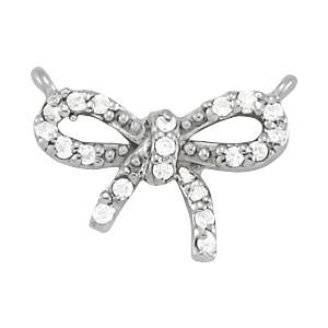 1/10 ct tw GIA Certified Diamond Bow Pendant with F Color VS Clarity Diamonds