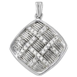 1/4 ct tw High Fashion Pendant with Stunning F Color VS Clarity Diamonds