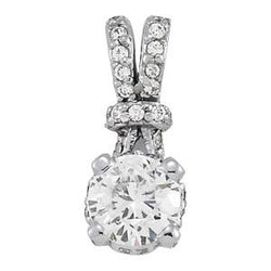 1 1/8 ct tw GIA Certified Diamond Solitaire Pendant with F Color VS Clarity Diamond