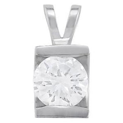 1 7/8 ct tw GIA Certified Diamond Solitaire Pendant with F Color VS Clarity Diamond