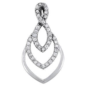1/5 ct tw High Fashion Pendant with Stunning F Color VS Clarity Diamonds