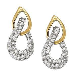 High Fashion Earrings with F Color VS Clarity Diamonds