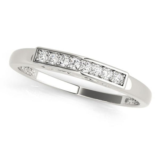 1/15 ct tw 14kt Gold Channel Set Diamond Wedding Band with F Color VS Clarity Diamonds