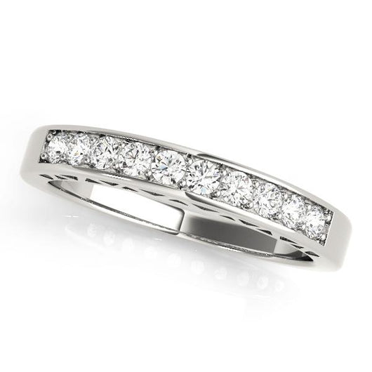 1/3 ct tw 14kt Gold Channel Set Diamond Wedding Band with F Color VS Clarity Diamonds