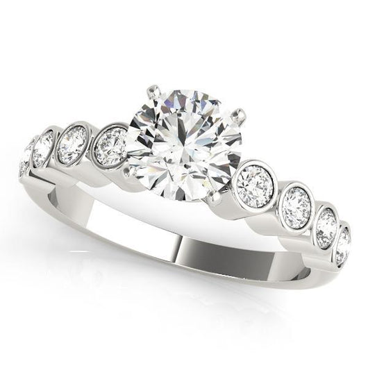 1/4 ct tw Single Row Engagement Ring with F Color VS Clarity GIA Certified Diamond