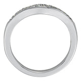 1/5 ct tw 14kt Gold Curved Diamond Wedding Band with F Color VS Clarity Diamonds