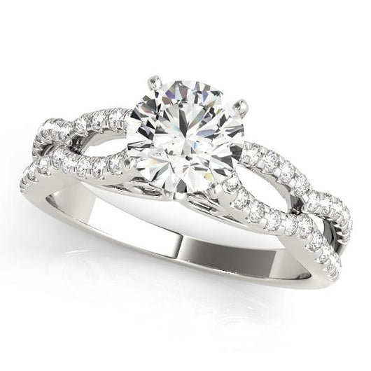 1/3 ct tw MultiRow Engagement Ring with F Color VS Clarity GIA Certified Diamond