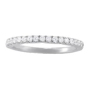 1/3 ct tw 14kt Gold Prong Set Diamond Wedding Band with F Color VS Clarity Diamonds
