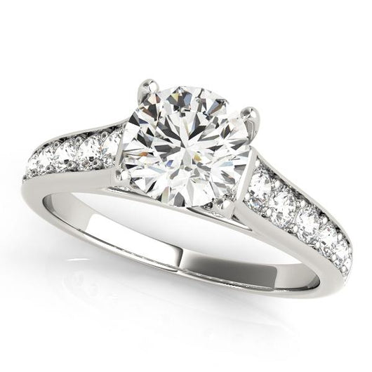 1 7/8 ct tw Single Row Prong Set Engagement Ring with F Color VS Clarity GIA Certified Diamond