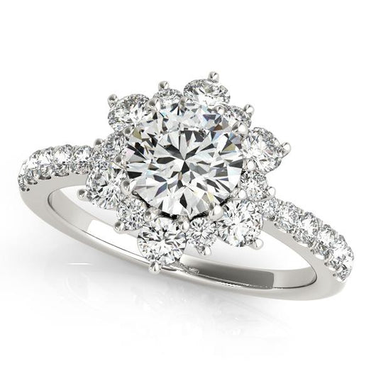 2 ct tw Signature Bridal  Engagement Ring with F Color VS Clarity GIA Certified Diamond