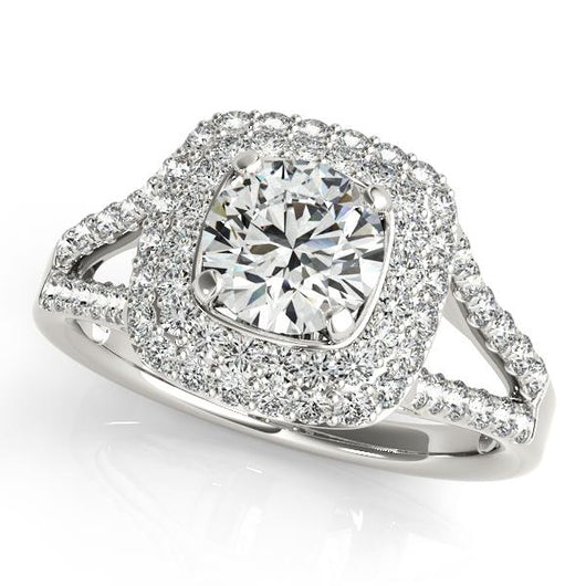 7/8 ct tw Signature Bridal  Engagement Ring with F Color VS Clarity GIA Certified Diamond