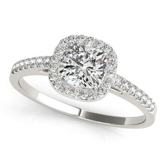1 1 4 Ct Tw Halo Princess Cut Engagement Ring With F Color Vs Clarity Diamonds Gia Center Stone