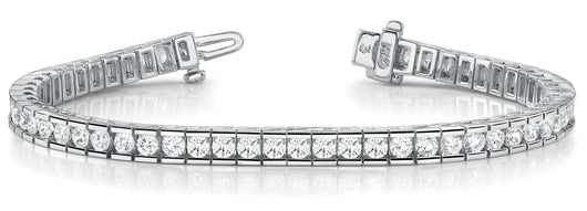 10 1/2 ct Diamond Bracelet with F Color VS Clarity Diamonds