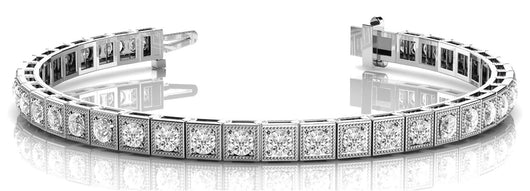 2 1/2 ct Diamond Bracelet with F Color VS Clarity Diamonds