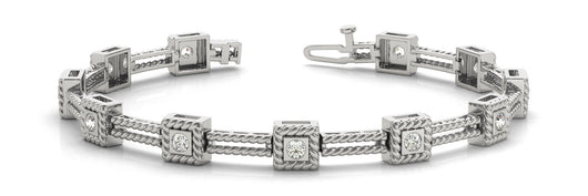 3/4 ct Diamond Bracelet with F Color VS Clarity Diamonds