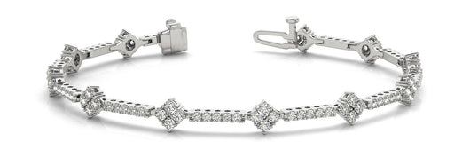 1 1/3 ct Diamond Bracelet with F Color VS Clarity Diamonds