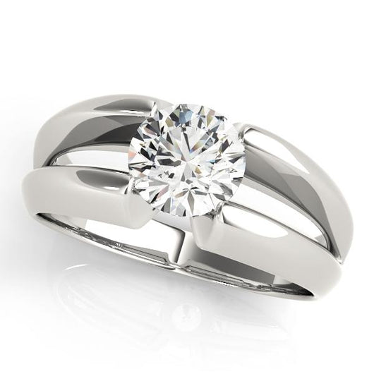 1 ct tw Solitaire Engagement Ring with F Color VS Clarity GIA Certified Diamond