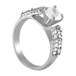 1/2 ct tw Pave Engagement Ring with F Color VS Clarity GIA Certified Diamond