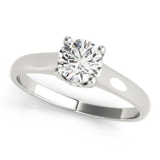 1/2 ct tw Solitaire Round Engagement Ring with F Color VS Clarity GIA Certified Diamond