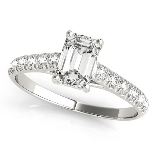 7/8 ct tw Trellis Engagement Ring with F Color VS Clarity GIA Certified Diamond