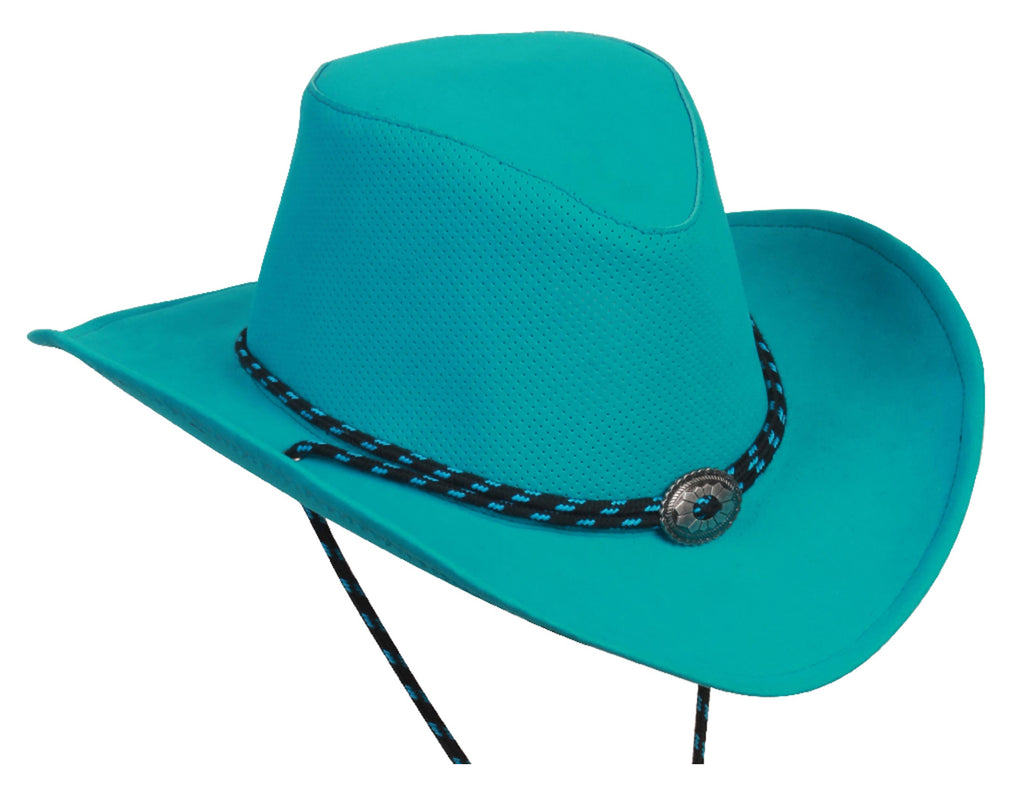 Summer sun hat Western Breeze with malleable brim and chin strap in aqua - OUT OF AUSTRALIA | Kakadu Traders Australia