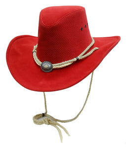 Summer sun hat Western Breeze with malleable brim in red M - OUT OF AUSTRALIA | Kakadu Traders Australia