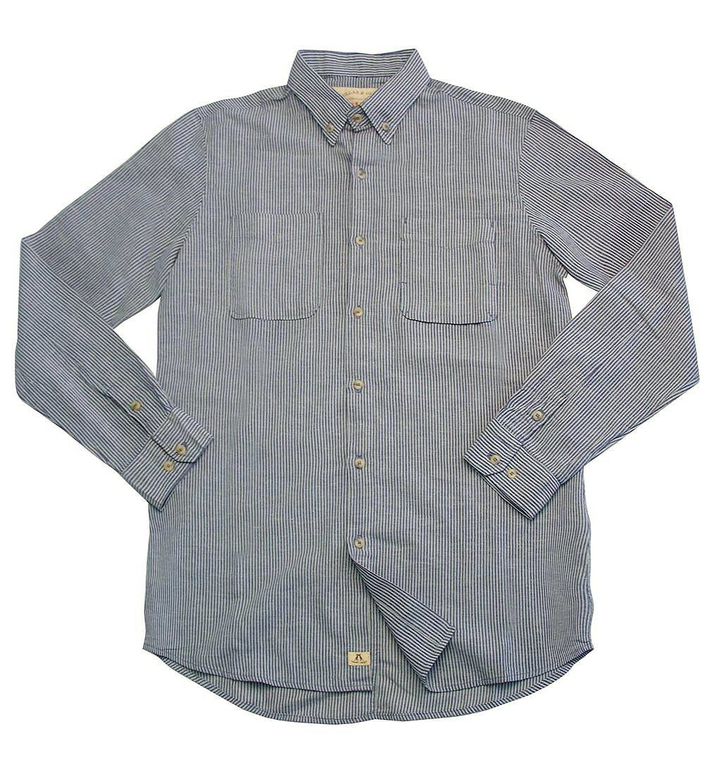 Slim fit shirt- shirt Stuart made of light cotton-linen in blue stripes - OUT OF AUSTRALIA | Kakadu Traders Australia