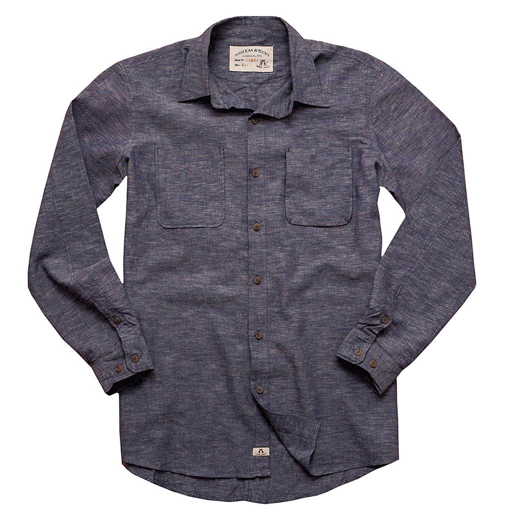 Slim fit shirt- shirt Stuart made of light cotton-linen in blue - OUT OF AUSTRALIA | Kakadu Traders Australia