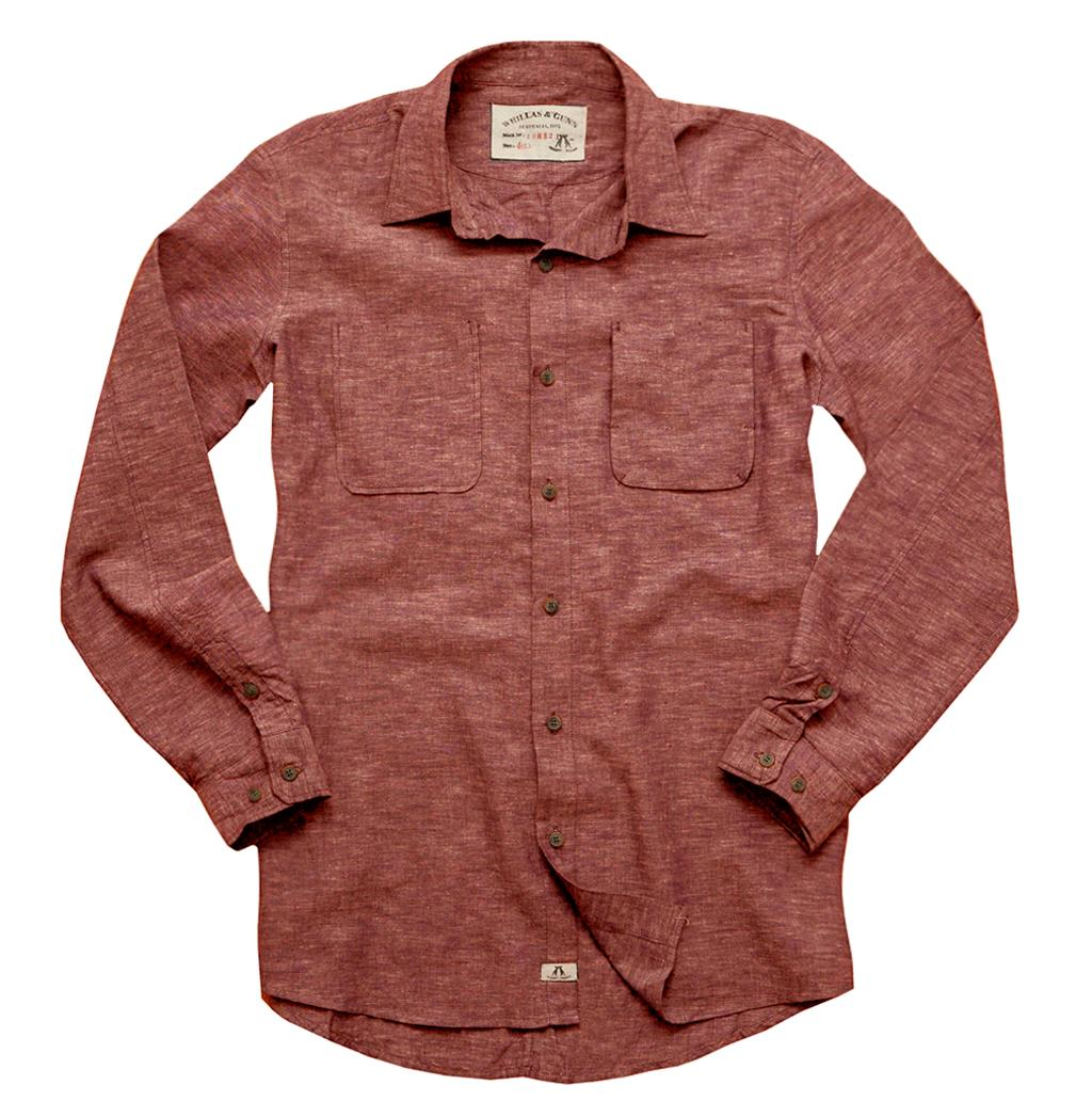 Slim fit shirt- shirt Stuart made of light cotton linen in red - OUT OF AUSTRALIA | Kakadu Traders Australia