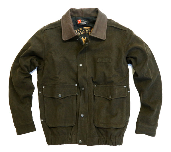 Aviator Outdoor | Freizeit | Flieger Jacke aus robustem Canvas mit Lederkragen - OUT OF AUSTRALIA | Kakadu Traders Australia