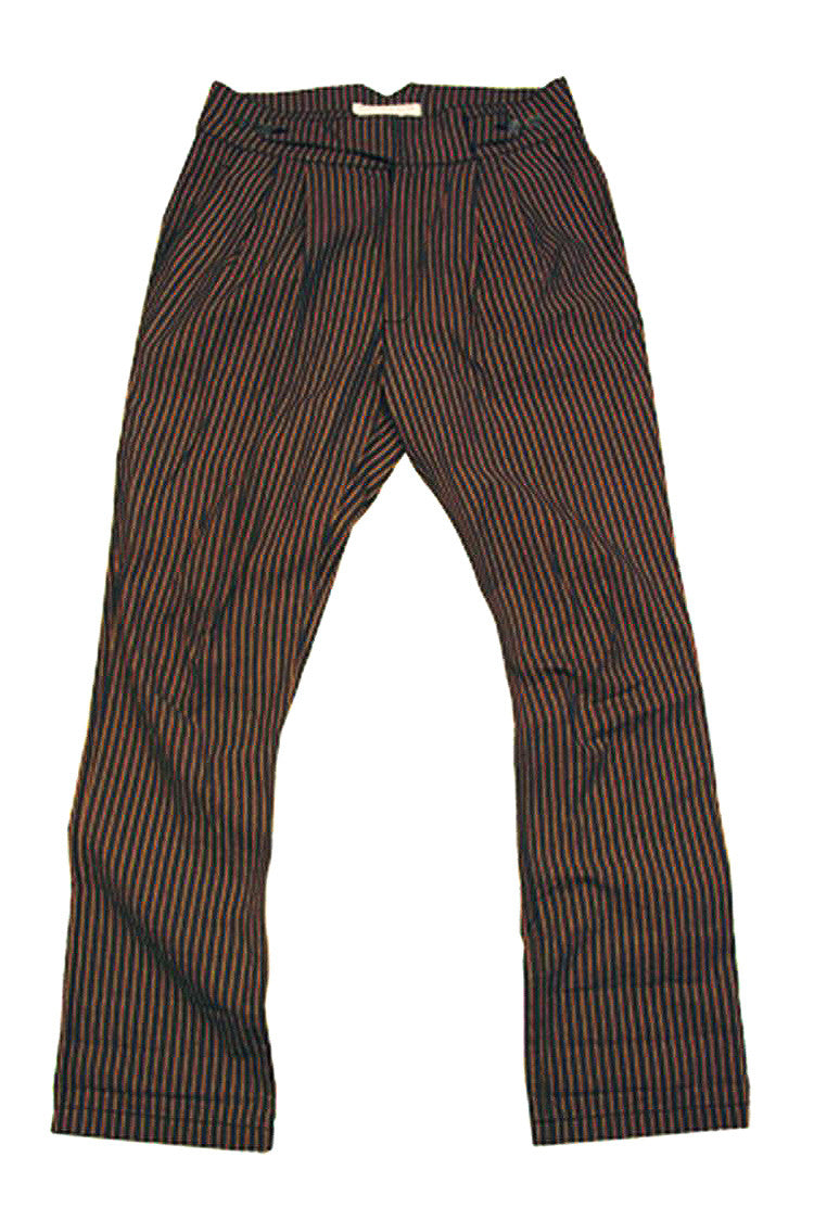 Straight-Legged Striped Canvas Chinos with High Waist - OUT OF AUSTRALIA | Kakadu Traders Australia