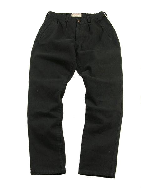Outdoor | Freizeit | Chino -Hose mit Flexibund aus robustem Canvas in schwarz