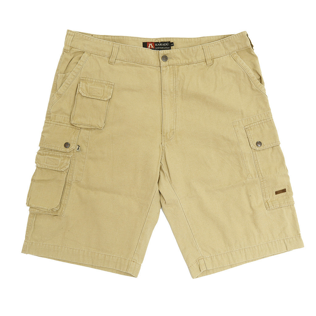 Leisure Cargo Shorts Utility- comfortable leg- extra pockets in beige - OUT OF AUSTRALIA | Kakadu Traders Australia