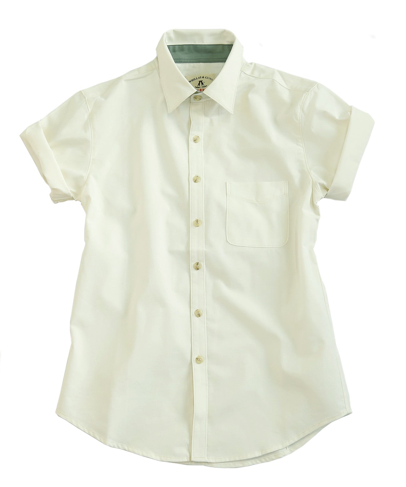 Short sleeve summer | Leisure men's shirt | Narrow collar in pink and white - OUT OF AUSTRALIA | Kakadu Traders Australia