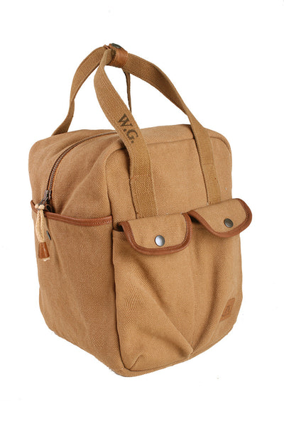 Schultertasche | Trage | Hand Tasche- Carry Bag mit Lederapplikationen - OUT OF AUSTRALIA | Kakadu Traders Australia