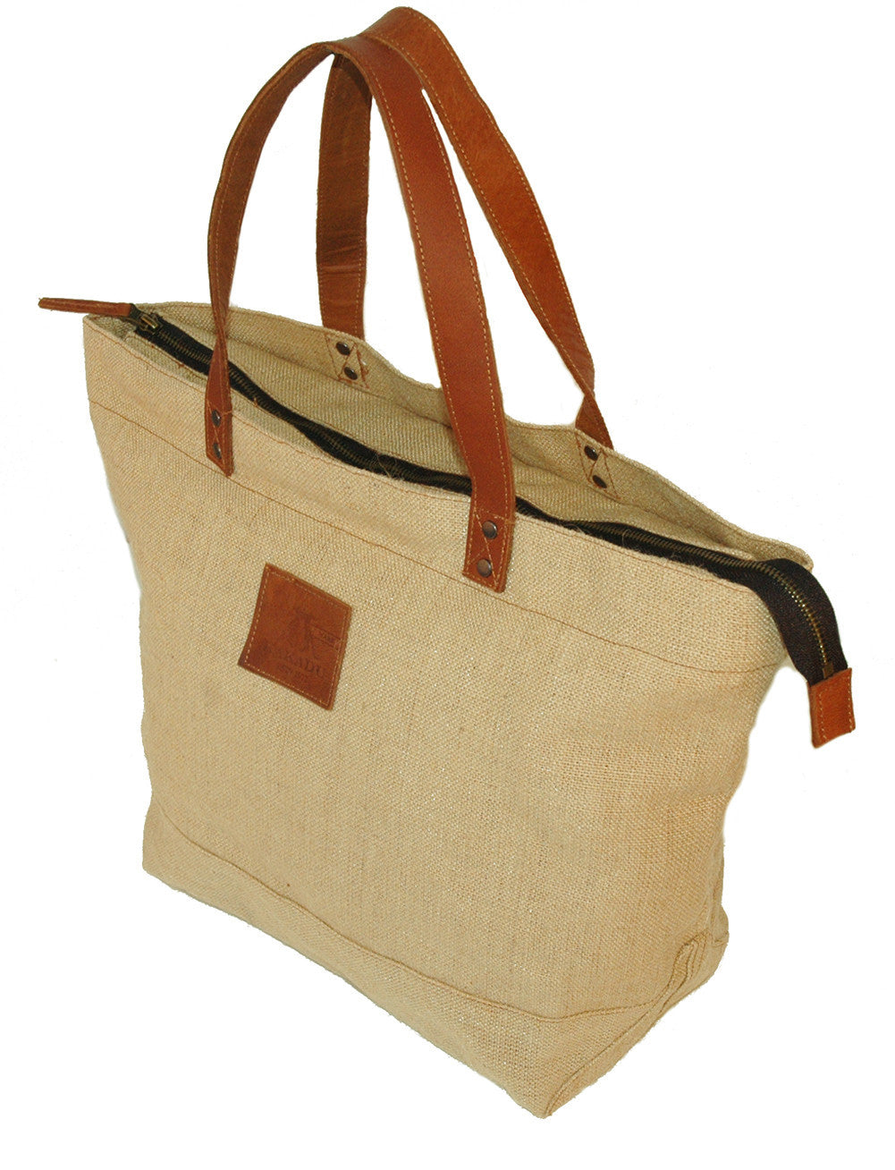 Carrying bag | Shoulder bag | Shopper- Byron jute tote with zip - OUT OF AUSTRALIA | Kakadu Traders Australia