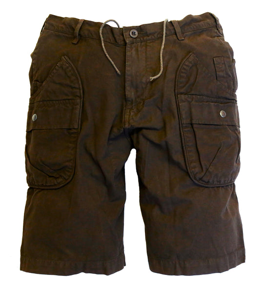 Outdoor | Freizeit | Cargo Shorts im Destroyed Look in schwarz, braun und blau - OUT OF AUSTRALIA | Kakadu Traders Australia
