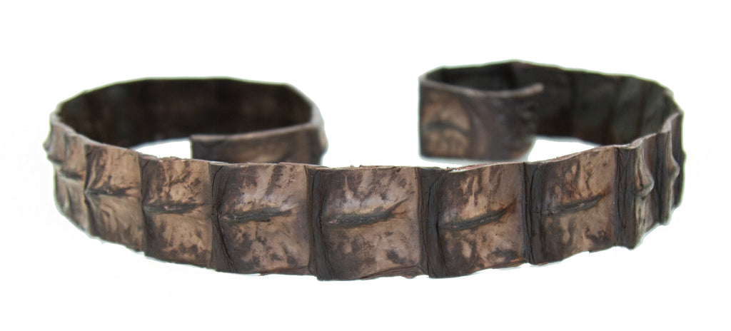 Genuine crocodile leather hat band in brown - OUT OF AUSTRALIA | Kakadu Traders Australia