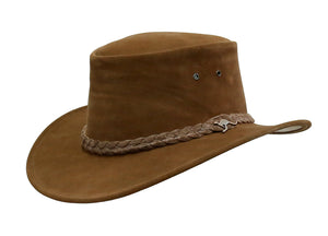Outback Colonial suede hat 2nd choice | made in Australia | Brown XL | Olive L - OUT OF AUSTRALIA | Kakadu Traders Australia
