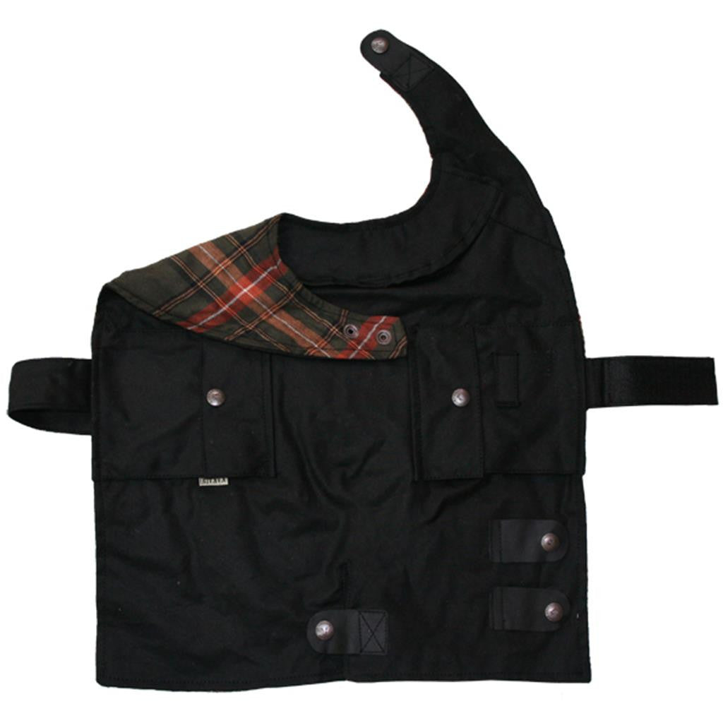 Dog coat | Dog jacket made of water-repellent cotton in black and brown - OUT OF AUSTRALIA | Kakadu Traders Australia